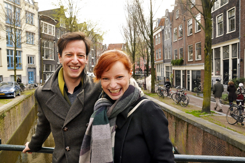 Anna Traub og Thorbjørn Gulbrandsøy i Amsterdam