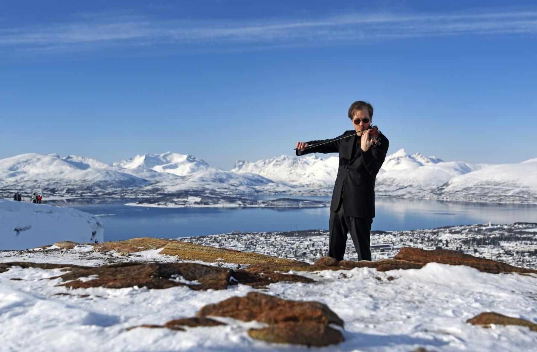 Henning Kraggerud på Fløya i Tromsø