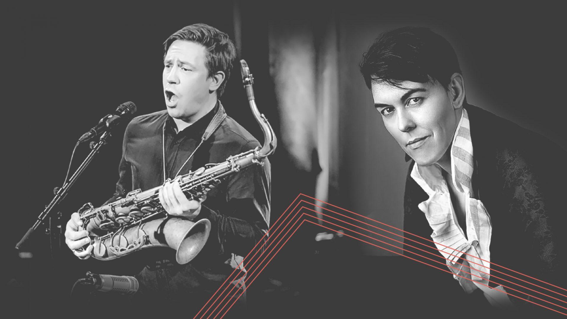 Saxofonist og tenor Håkon Kornstad og mezzosopran Adrian Angelico