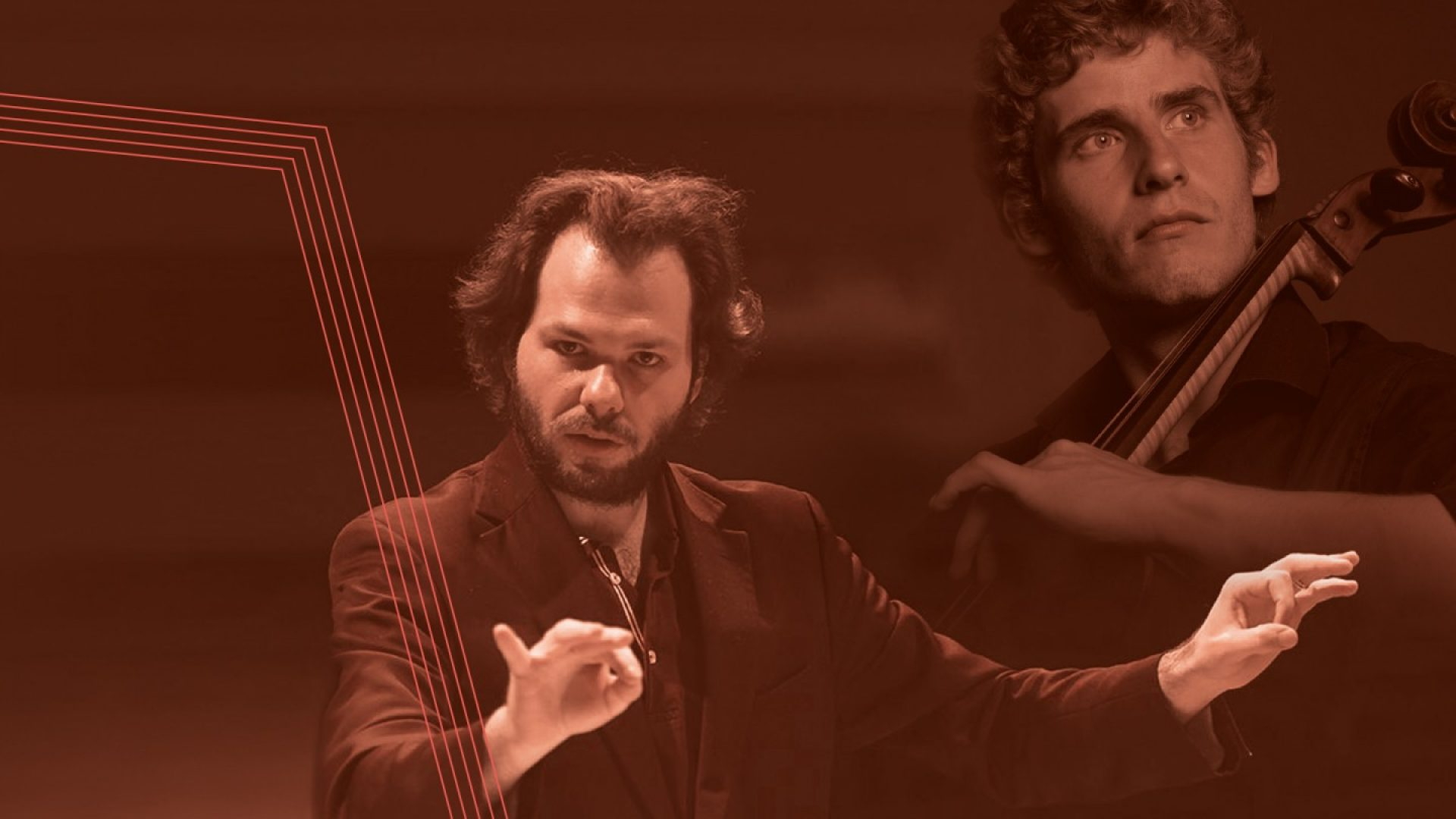 Dirigent Petr Popelka og cellosolist Andreas Brantelid