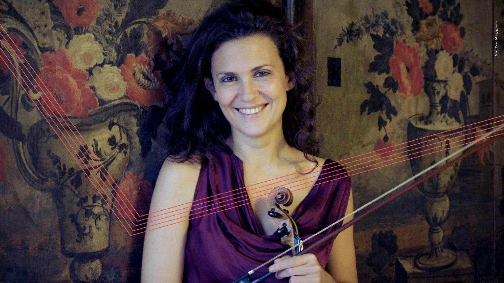 Lorenza Borrani med fiolin