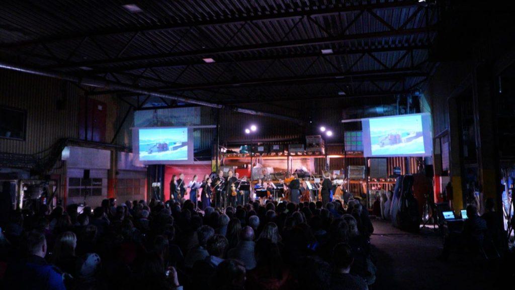 Arktisk Filharmonis kammerorkester spilte i Gruve 7