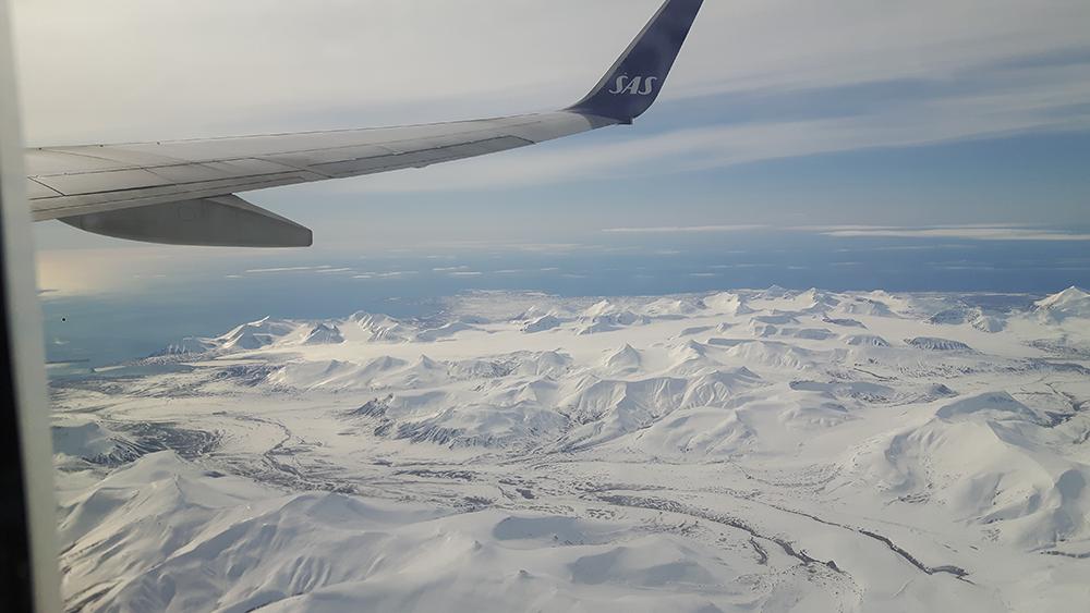 Flyvning over Svalbard.