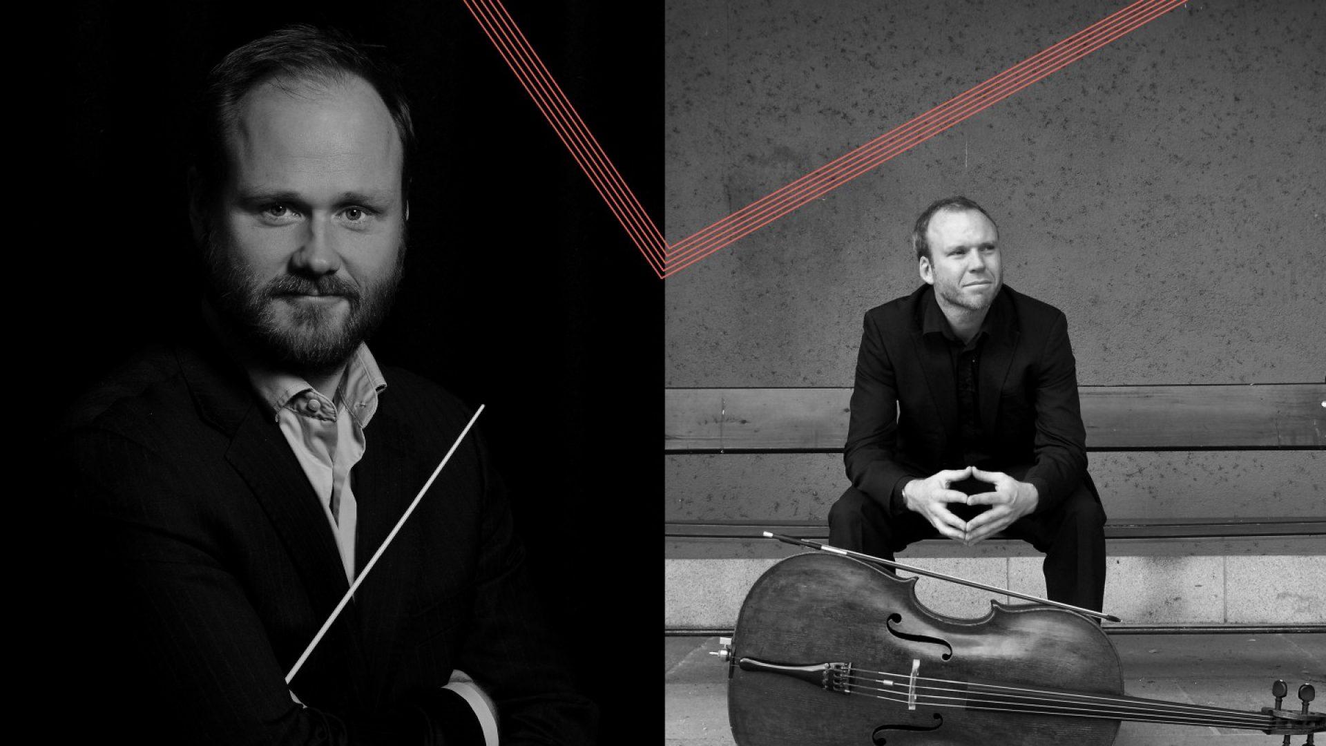 Bilde av dirigent Trond Husebø og Solist Audun Sandvik