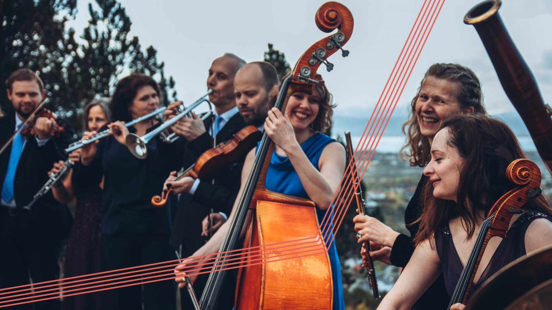 smilende musikere fra Arktisk Filharmoni